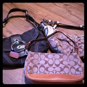Bundle of 3 Coach purses